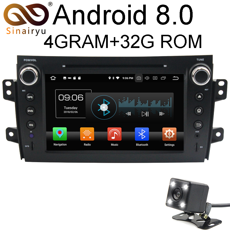 Android 8 0 8 Core 4G RAM Car DVD GPS For SUZUKI SX4 2006 2007 2008