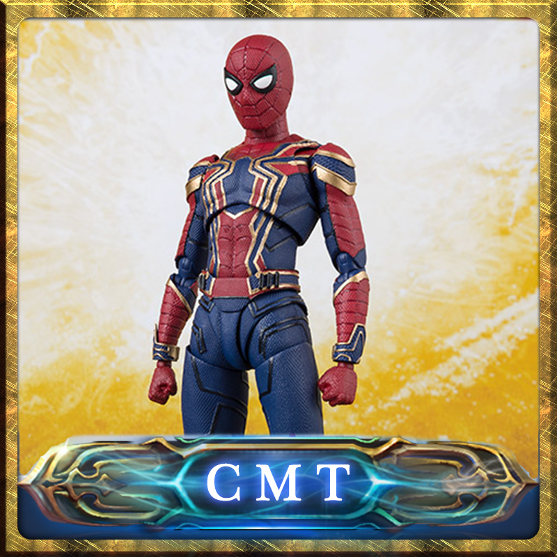 купить CMT Original Bandai Tamashii Nations Marvel Comics S.H.Figuarts SHF Iron Spider Man (Avengers / Infinity War) Action Figure по цене 7487.17 рублей