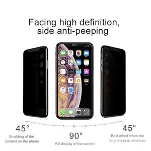 Image 3 - Baseus غطاء حماية شاشة الخصوصية الزجاج المقسى ل آيفون Xs ماكس Xr X S R Xsmax مكافحة يبصر الغبار واقية زجاج واقي فيلم