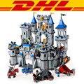 Enlighten 1023 1393 unids medieval león castillo caballero carro kits de edificio modelo bloques ladrillos juguetes para los niños regalo compatible