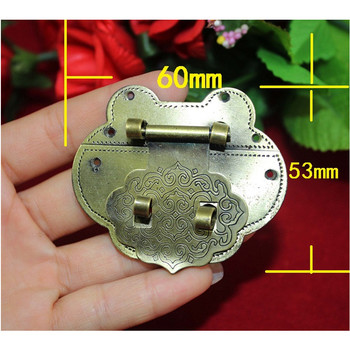 Bulk Antique Latches Decorative Drawer Hasp Jewelry Wooden Box Suitcase Lock Latch,Vintage Peach Clasp Locks,60*53mm,30Sets