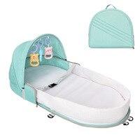 Mochila De cama portátil para bebé  plegable  para bebé recién nacido  cuna de viaje  bolsa de pañales  cama para bebé