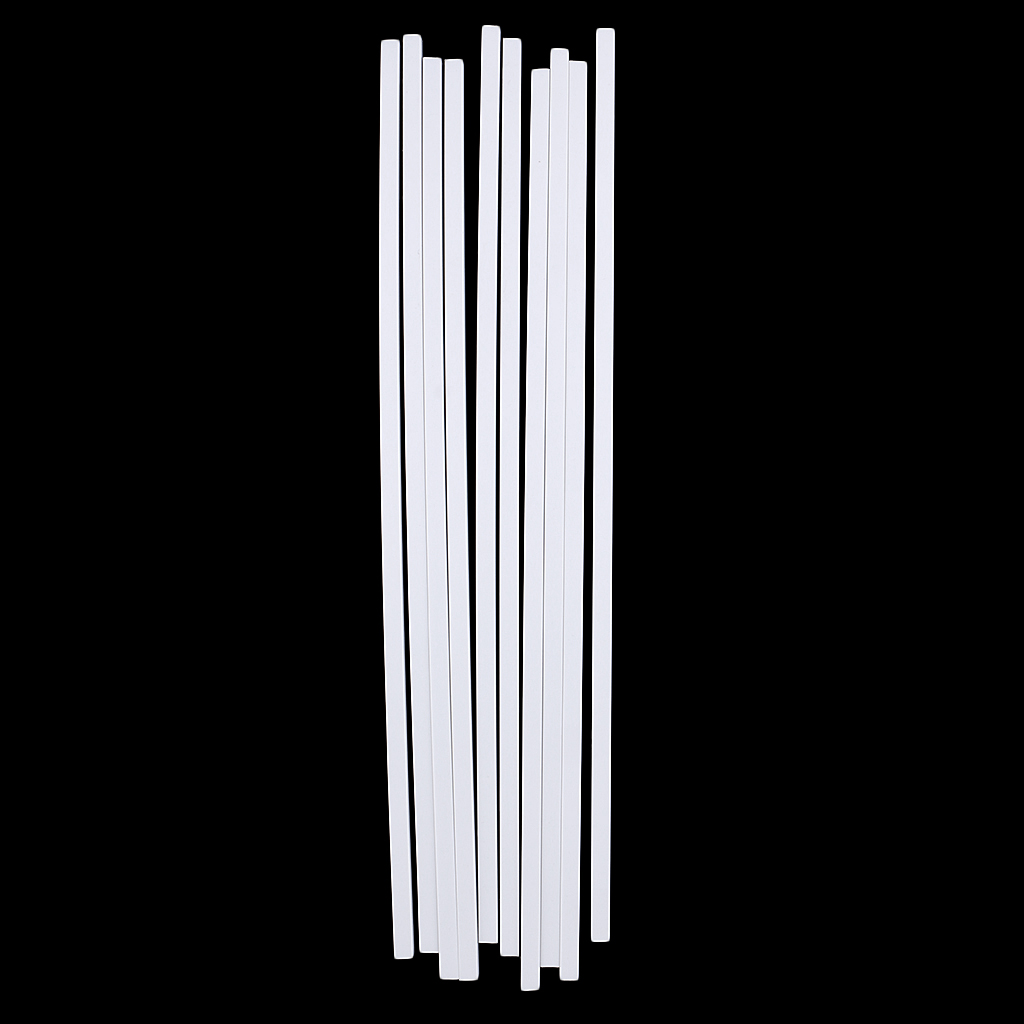 10 x White ABS Plastic Rod Round Solid Bar DIY Model Material 250mm x 2mm