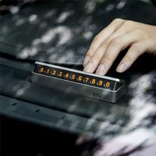 Nuevo de Lujo Etiqueta Engomada Del Coche Del Coche Tarjeta de Estacionamiento Temporal estilo Cajón Tarjeta de Número De Teléfono fácil de desmontar sustituir fluorescentes