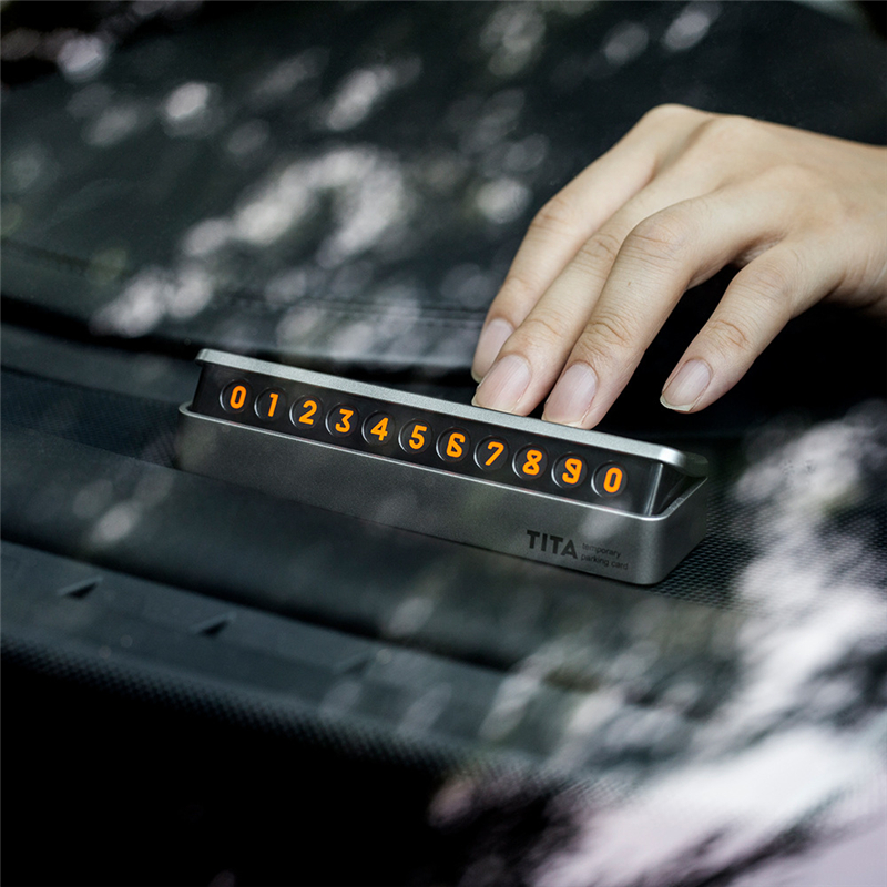 New Upscale Car Sticker Car Temporary Parking Card Drawer Style Florescent Phone Number Card Easy To