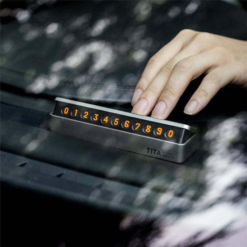 Nuovo Lusso Auto Adesivo Auto di Parcheggio Temporaneo Cassetto stile fluorescente Numero di Telefono Carta facile da smontare sostituire