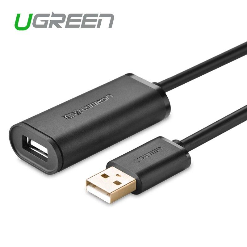 Ugreen US121 usb 2.0 de dados de alta velocidade LAN sem fio de amplificação de sinal cabo de extensão ligado linha 5/10/15/ 20/30 m