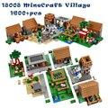 Mi Pueblo Mundos Minecraft Bloques Educativos Juguetes Y Pasatiempos Para Niños Lepin 1600 pcs Kits de Edificio Modelo Compatible Con La Pierna