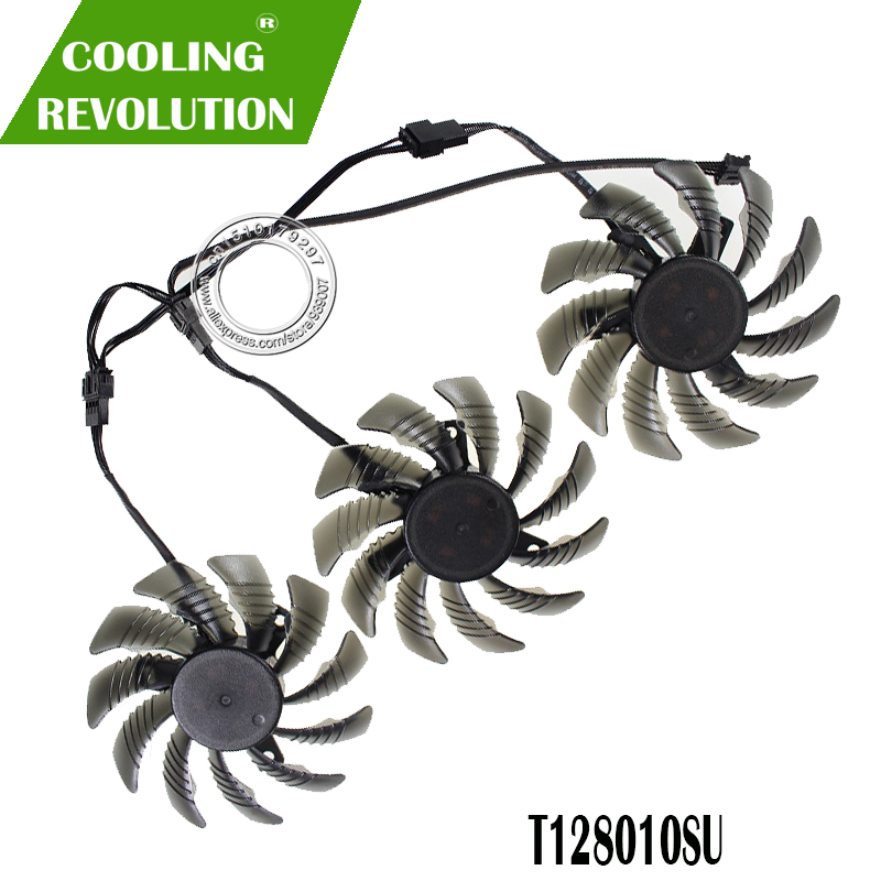 3PCS T128010SU GTX1060 GTX1070 GTX1080Ti 75mm GPU VGA Cooler Cooling Fan For GIGABYTE GTX 1080/1080Ti/1070Ti/1060 COOLING FAN