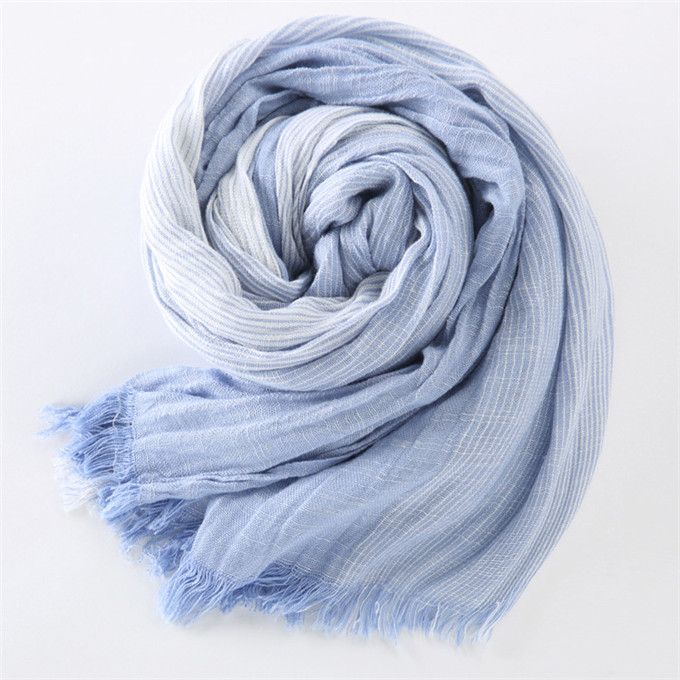 Japanese Cotton Scarves Unisex Cashmere Big Size Striped Tassel Scarves Navy Blue And Black Winter Scarf Men Scarf