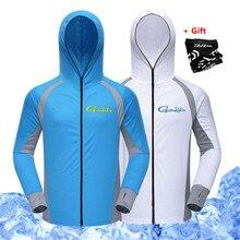 832ec34c1 الصيف التجفيف السريع ملابس لصيد السمك واقية من الشمس الملابس للرجال رقيقة  تنفس الجليد الحرير في