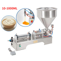 10 1000ML Electric Pneumatic Single Head Paste Filling Machine Bee Toothpaste Sauce Skin Care Product Filling Machine|Food Filling Machines| |  -