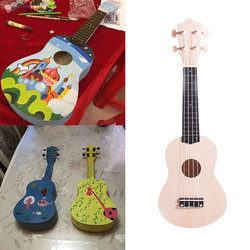 2018 21 Inch Ukulele DIY Kit Hawaii Guitar Handwork Support Painting Wooden Music Toys Musical Instruments Toy For Children Kids