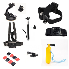 For Gopro Set Helmet Harness Chest Belt Head Mount Strap Monopod For Go professional hero3 Hero4 three+ Sj4000 Xiao yi Equipment Package