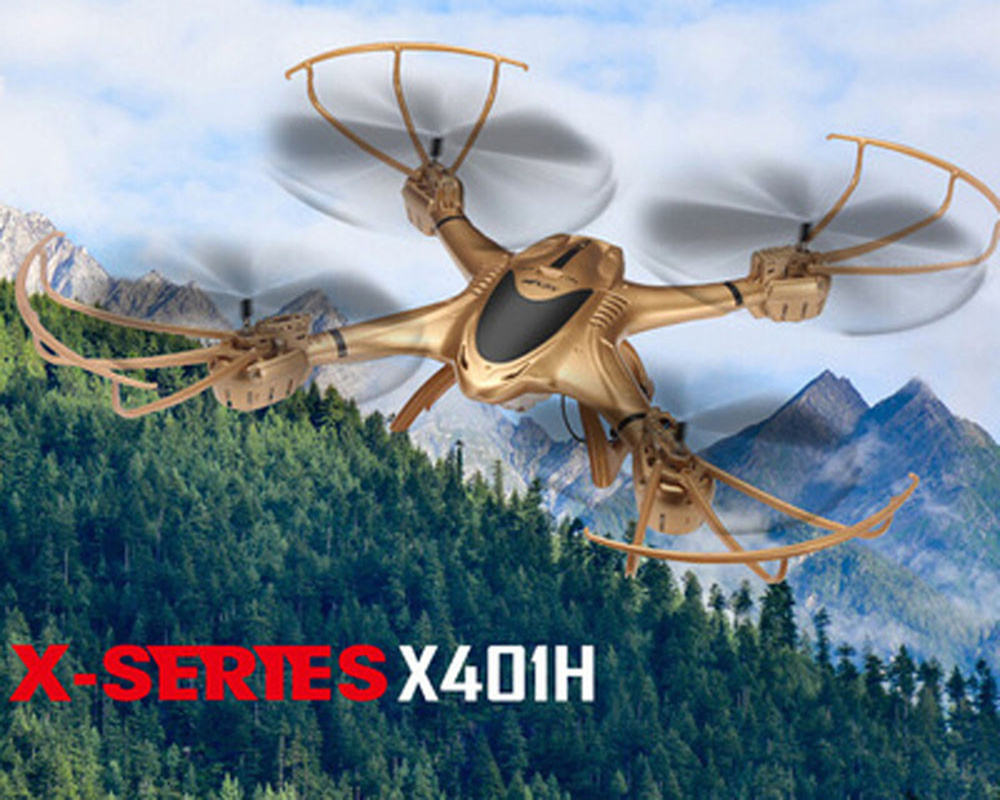 MJX X401H New Drone WIFI FPV With 720P HD Camera Altitude Hold Mode Black/Glod Hexacopter RTF WiFi APP control VS X400 X400-V2 радиоуправляемый квадрокоптер mjx x102h с hd fpv камерой и барометром rtf 2 4g