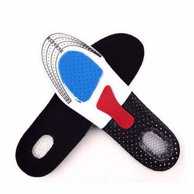 Para calzado deportivo almohadilla Unisex espesamiento absorción de golpes baloncesto fútbol zapatos almohadillas silicona suave plantilla 2016 Nuevo caliente
