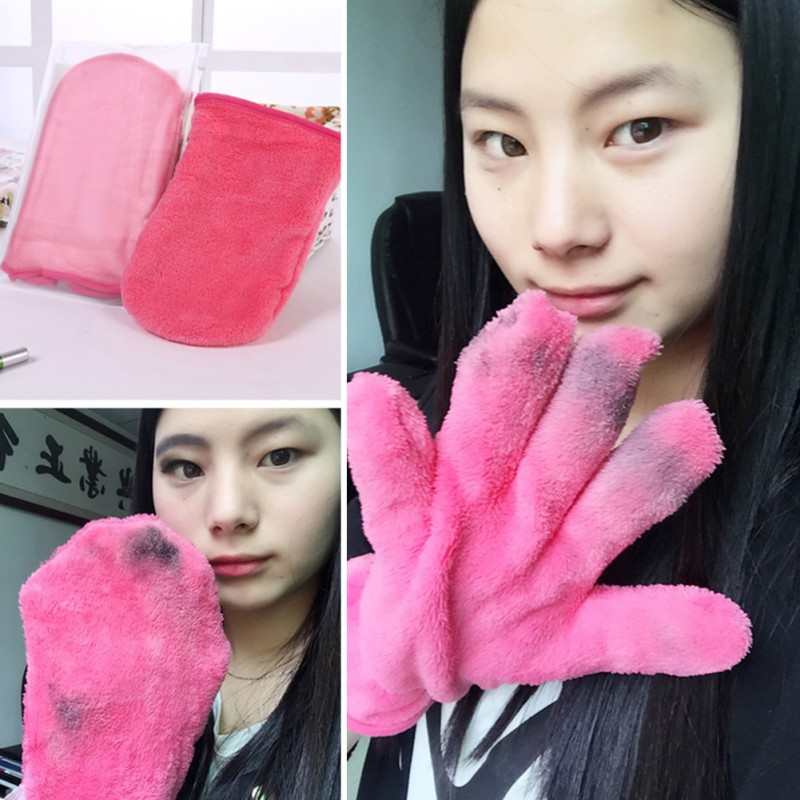 New Makeup Remover Gloves Reusable Save Yourself 100's On Remover