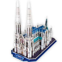 Classic Jigsaw Puzzle New York St Patrick's Church DIY Enlighten Construction Brick Toys Scale Models Sets City For Children