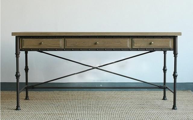 Européenne et american vintage meubles en bois fer forgé bureau