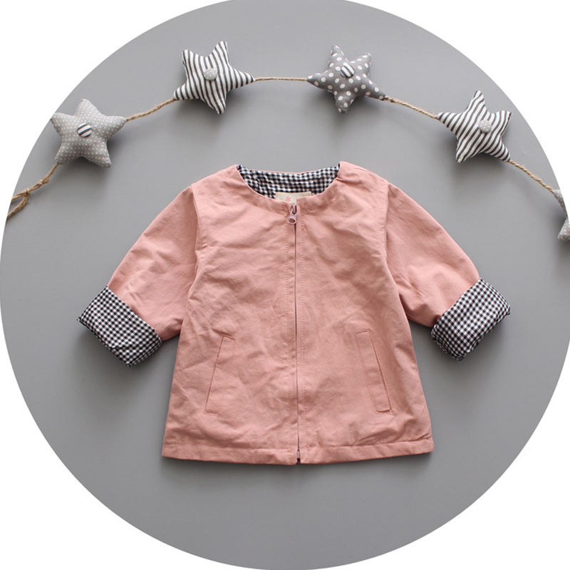 55aab9928 In Vogue Spring And Autumn Round Collar Baby Clothing Infant Coat ...