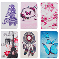 Butterfly Owl Eiffel Tower Print PU Leather Case cover For Samsung Galaxy Tab3 7.0 Lite T110 T111 T113 T116 Tablet case
