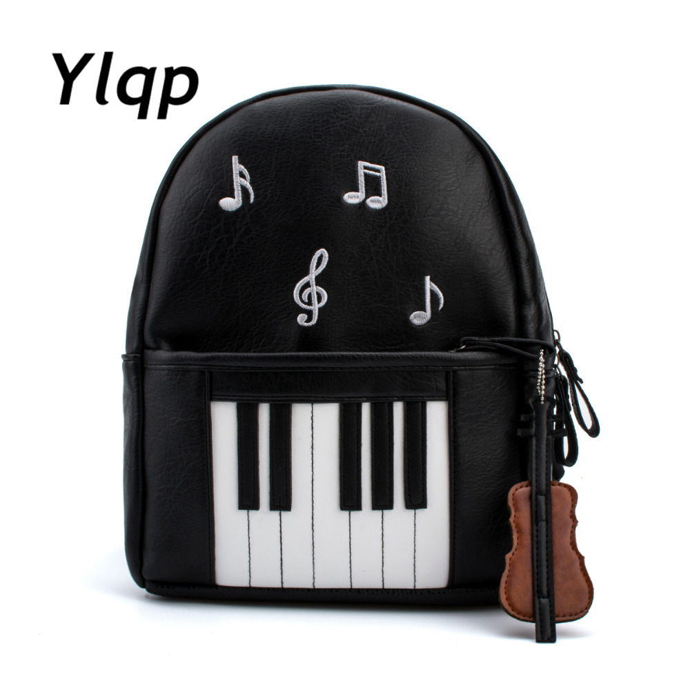 2018 New Fashion Piano Musical Printing Rygsæk Casual Rygsække til Teenage Girls Travel Students Skole Rygsæk Mochilas