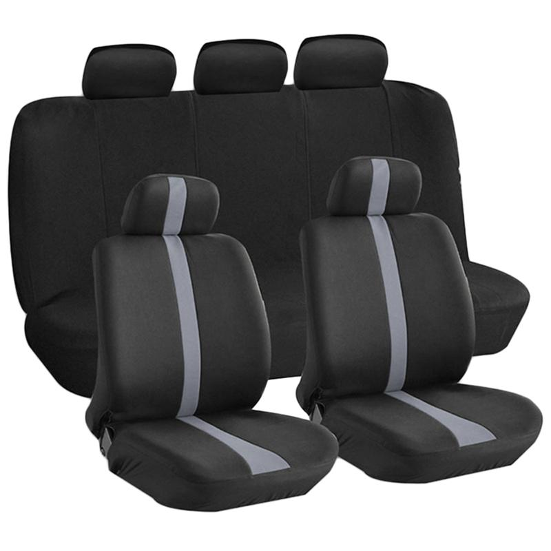 VORCOOL 9Pcs/Set Universal Car Seat Cover Full Seat Covers Auto Interior Styling Decoration Protector dewtreetali 9pcs set universal car seat cover polyester car front back seat cushion covers protector car styling interior access