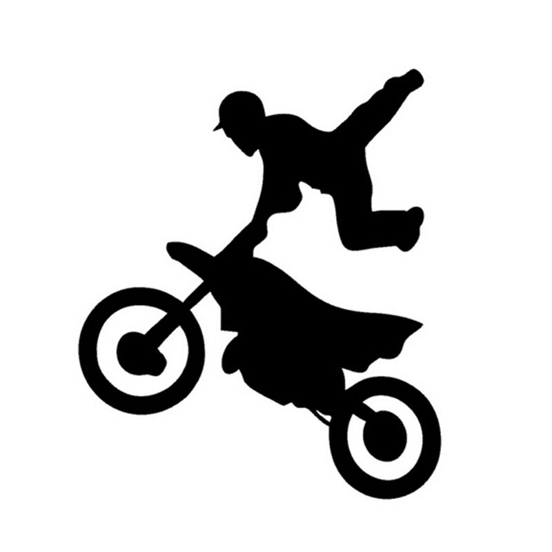 Freestyle Motocross Voiture Autocollants Dessin Anime Sport
