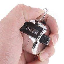 Tally нажмите номер счетчик серебро палец рука дисплей цифровой с