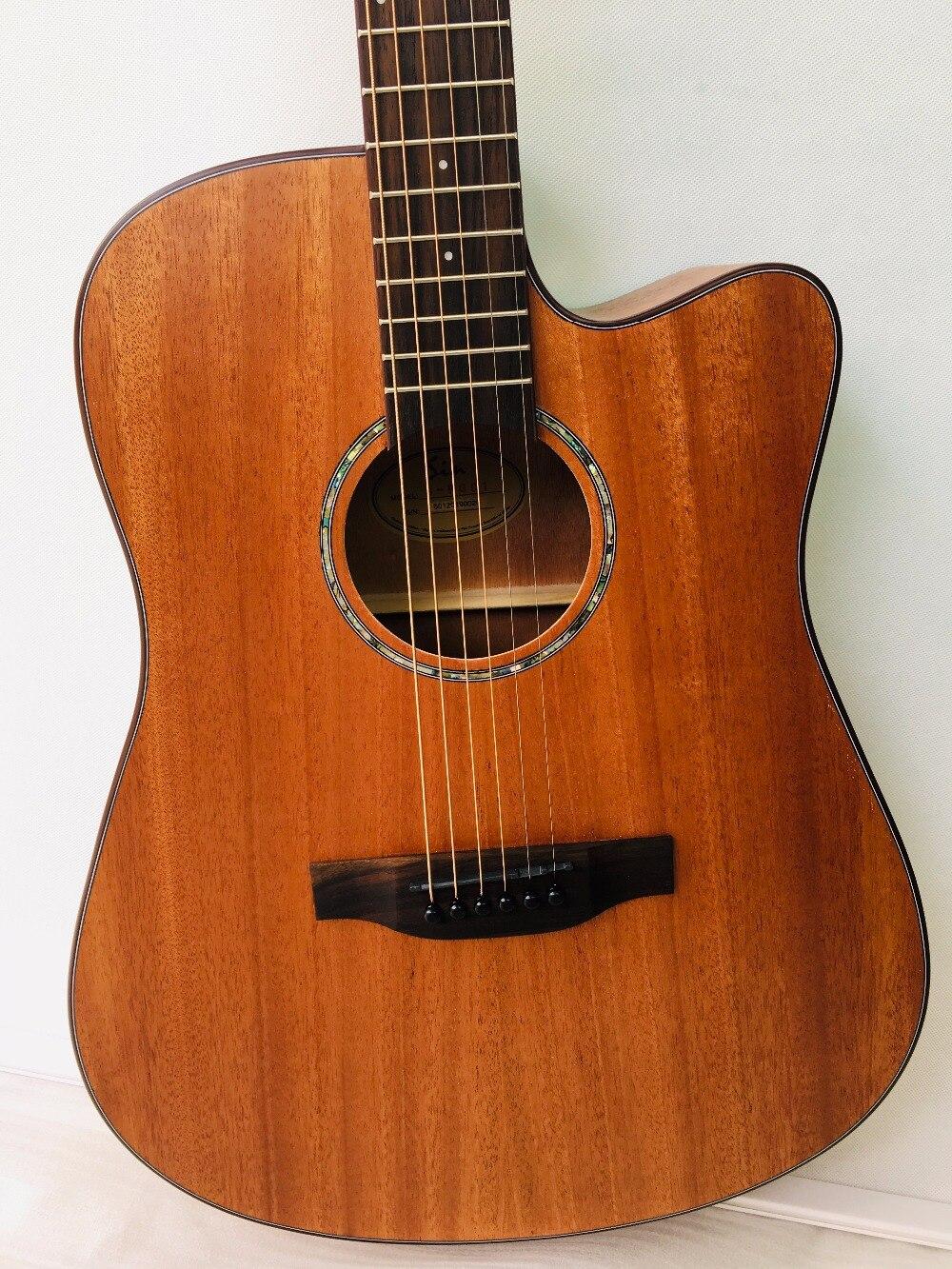 41 pouces guitare acoustique débutant pratique guitare Folk 6 cordes acajou Instrument de musique pour étudiant amoureux cadeau - 2