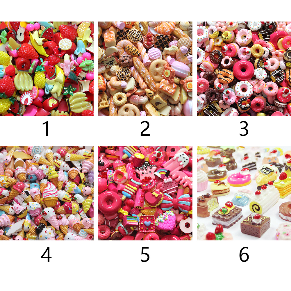 Flatbacks Resin Scrapbooking Slime Beads DIY Candy Color Cute Multishape Jewelry Accessory