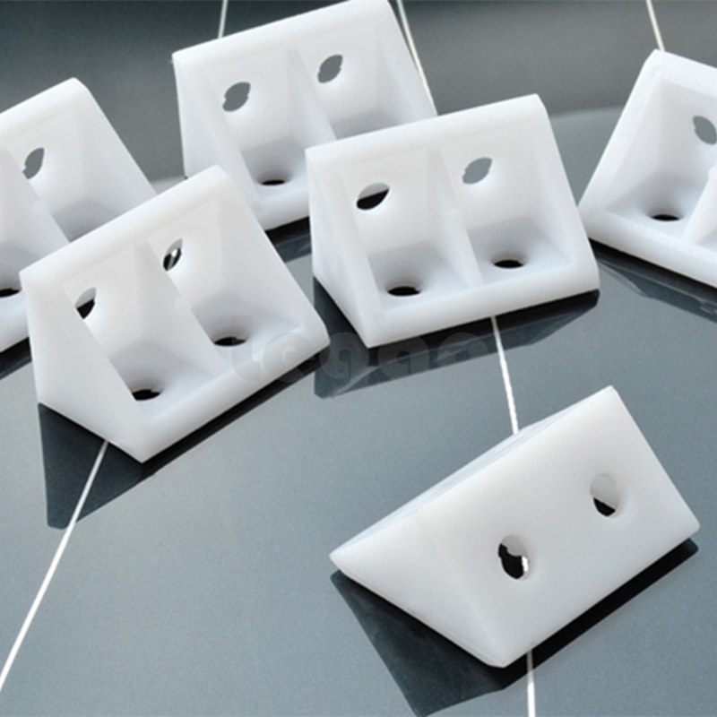 20pcs Thick Nylon Plastic Corner Brackets 90 Degree Cabinet Furniture Closet Angle Connecting Connector Hardware Accessories
