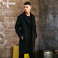 VIISHOW 2017 New Winter Men Woolen Trench Coat Men Long Trench Slim Fit Overcoat High Quality Men Coats Fashion Trench Outerwear