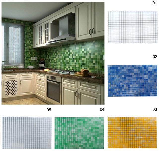 Us 275 7045 Cm 3d Imitacja Mozaiki Tapeta Folia Aluminiowa Anty Olej Naklejki ścienne Do łazienki Kuchnia Naklejka Art Wrap Diy Dekoracji S35 W