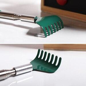 Image 5 - Yeni ayarlanabilir uzatılabilir geri Scratcher paslanmaz çelik teleskopik Anti kaşıntı esnek pençe Backscratcher DC88