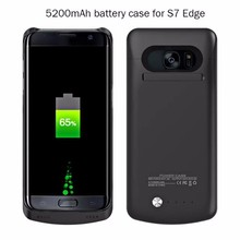 5200mAh Rechargeable External Battery Backup Charger Case Cover for Samsung Galaxy S6 S7 S7Edge Edge Plus Power Bank Cases