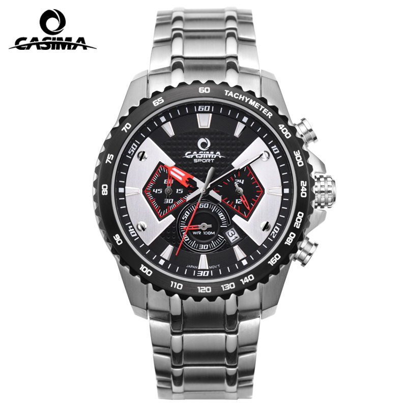 CASIMA Men Sport Watch Charm Luminous Army Quartz Watch Chronograph Military Wrist Watch Waterproof Clock Saat Relogio Masculino montre homme casima sport watch men waterproof silicone band week date quartz wrist watch dual time clock saat relogio masculino
