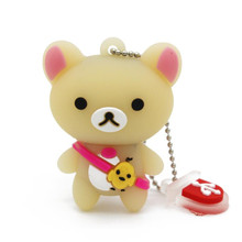 Lovely baby bear pendrive key chain pen USB stick