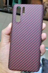 Image 4 - CF غلاف هاتف من ألياف الكربون لهاتف هواوي P30pro هواوي P30 خصائص رقيقة وخفيفة مادة ألياف الأراميد