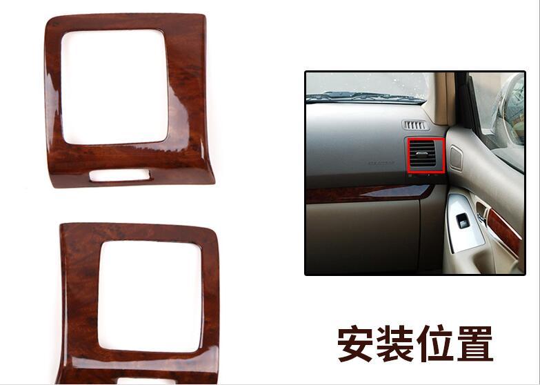 Pour TOYOTA Prado 2003-2006 2007-2009 De Luxe Bois Chrome De Voiture Intérieur Décoratif Cadre capots de bordure Car Styling Auto accessoires - 5