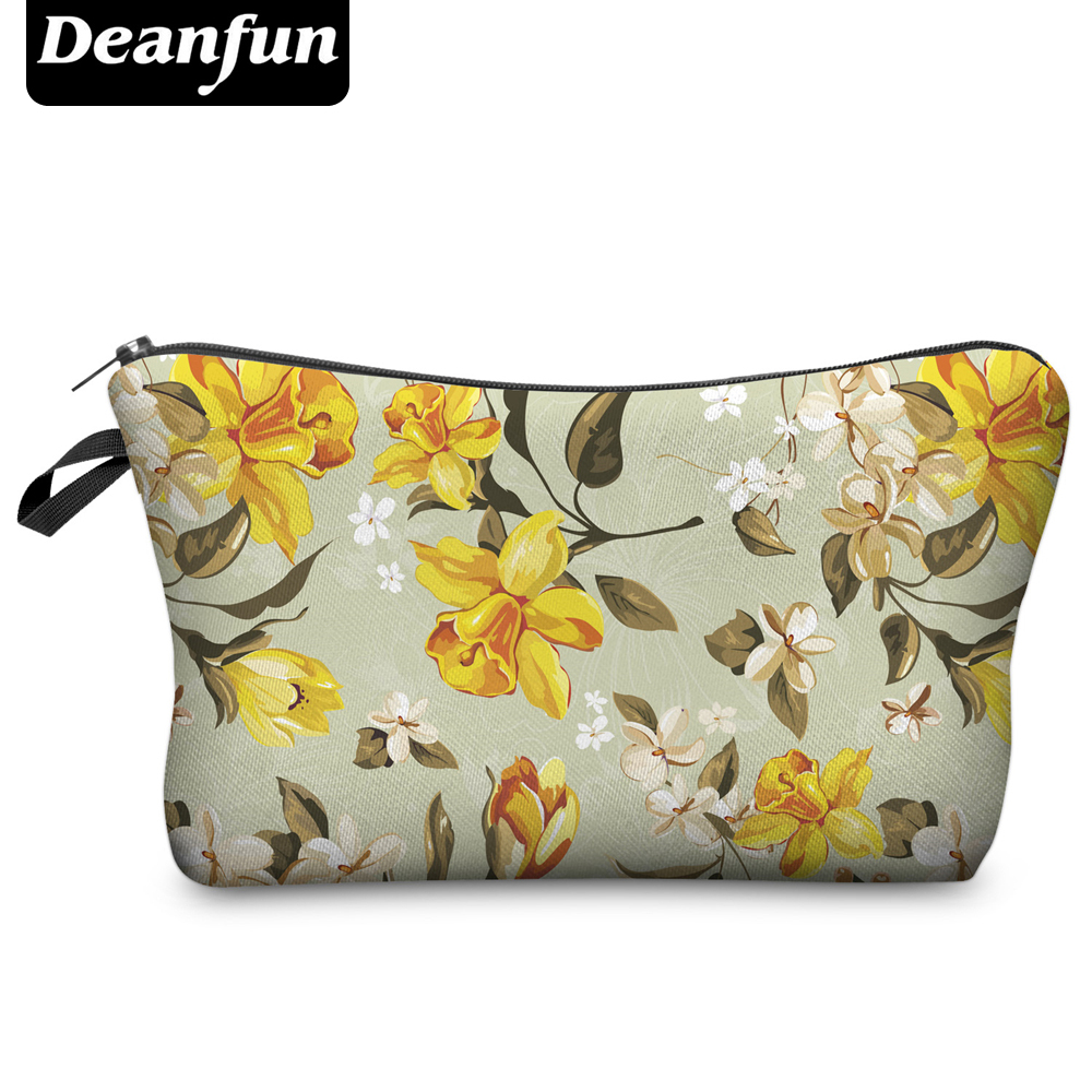 Deanfun  New Fashion 3D Printing Women Makeup Bags With Multicolor Pattern for Traveling easy taking deanfun emoji backpack 2016 new fashion women backpacks 3d printing bags drawstring bag for men s79
