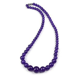 The Pure purple jewelry   The Size is clear and Purple is Distinct purple Jas-per Necklace .semiprecious