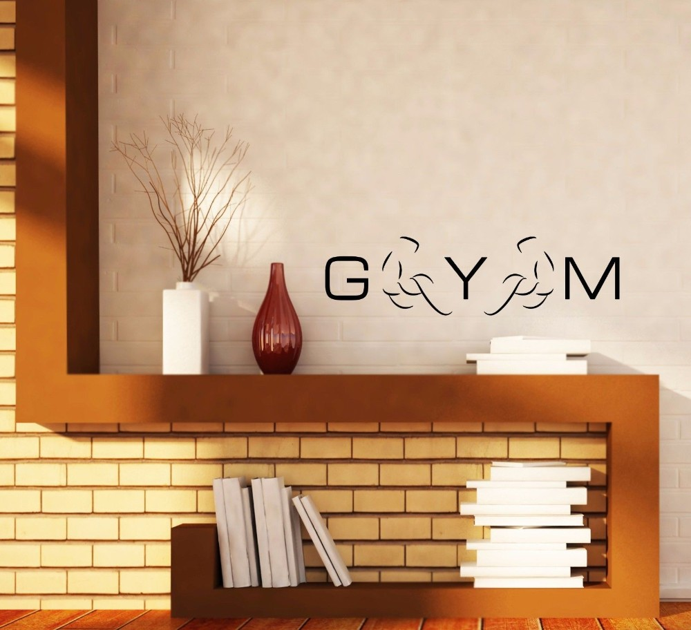sticker bodybuilder promotion shop for promotional sticker adesivo de parede modern gym lettering wall sticker bodybuilding exercise wall decal home decor vinilos paredes door vinyl mural