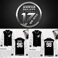 Diecisiete kpop ropa de béisbol hombres mujeres Ocio Traje chaqueta escudo k-pop Seventeen17 Otoño Invierno Hoodies Ropa Exterior Sudadera