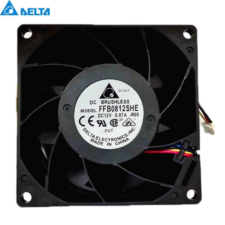 new and original package  FFB0812VHE   80*80*38mm  8cm 12V 0.57A   ball bearing cooling fan  for Delta original delta afb0912shf 9032 9cm 12v 0 90a dual ball bearing cooling fan