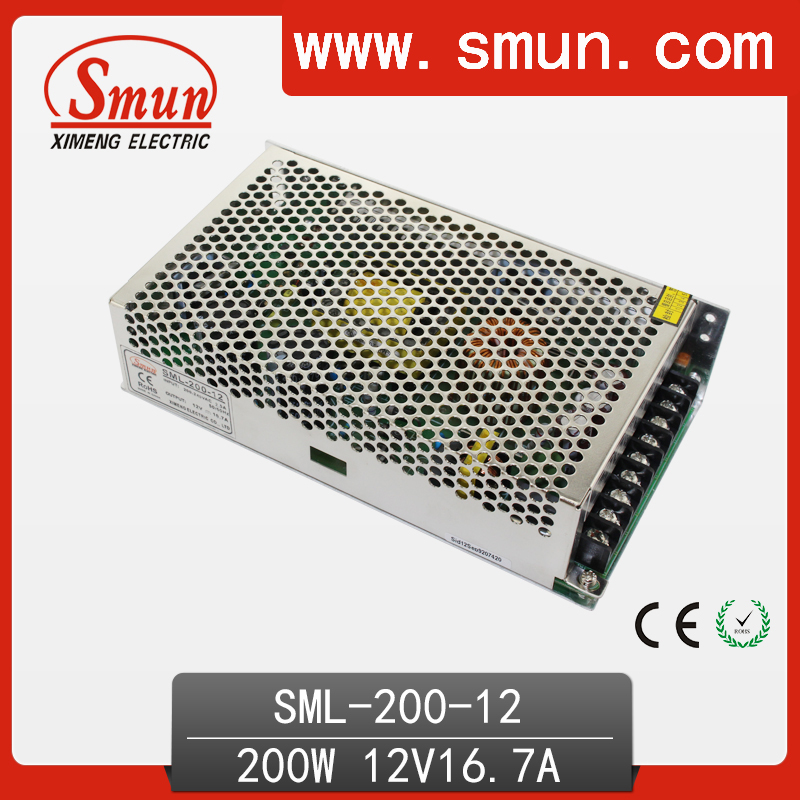 LED 200w 220vac 12vdc 16.7a switching power supply image