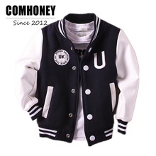 Boys Jacket Bomber Baseball Jacket for Baby Kids Football Jersey Coat Children Windbreaker Boys Outwear School