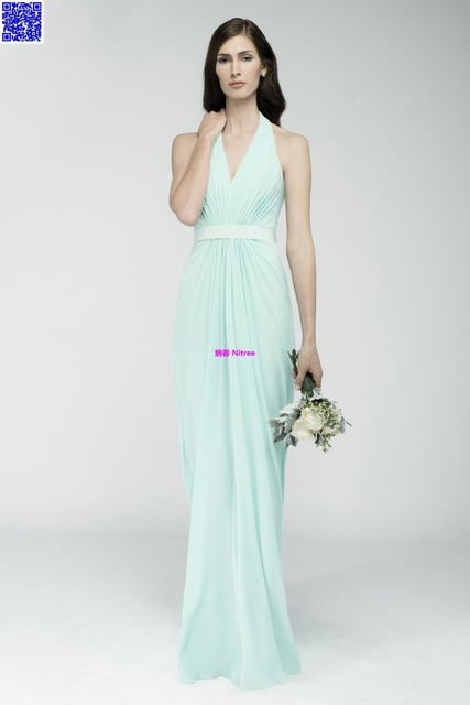 Nitree Cheap Green Bridesmaid dress Party Gown Fashion Collection Unique  Sexy Luxury Designer Celebrity Romantic Spring 2015 New c6a158054c93