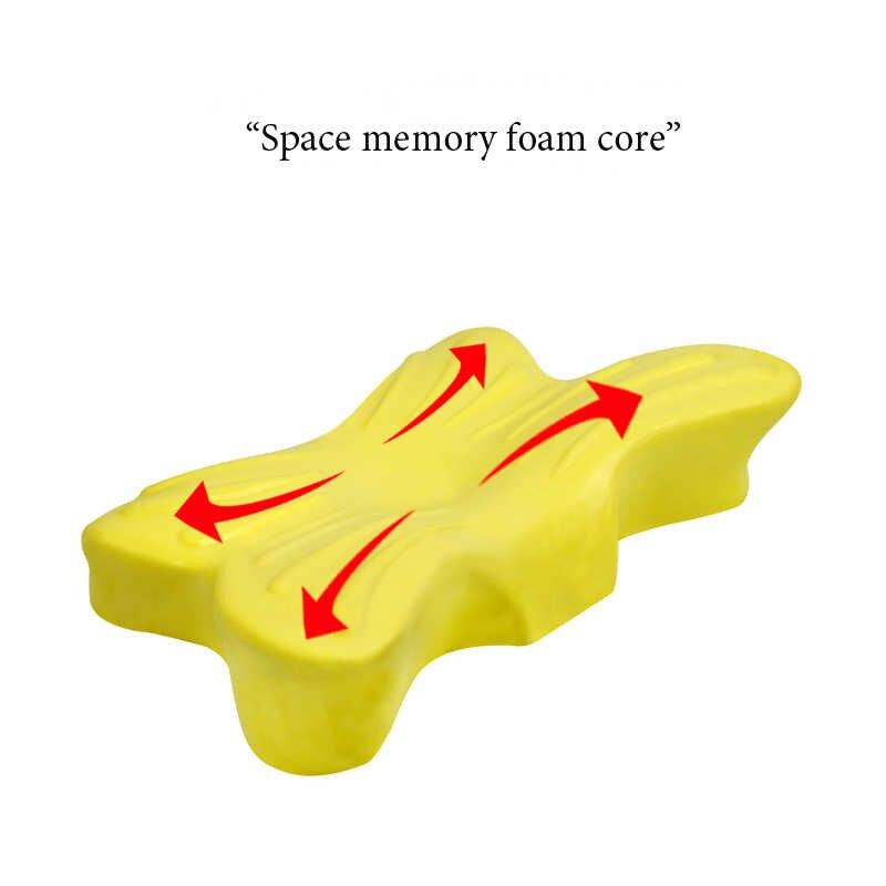 Berbentuk Kupu-kupu Seprai Bantal Memory Foam Bantal Serviks Ortopedi Leher Bantal Kesehatan Perawatan Lambat Rebound Bantal Tidur