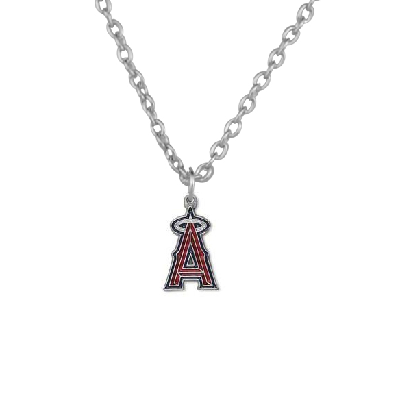 Los Angeles Angels Charm Pendant Necklace Alloy Baseball Team Dangle Charms Necklace Statement Accessories For Sport Fans Gift
